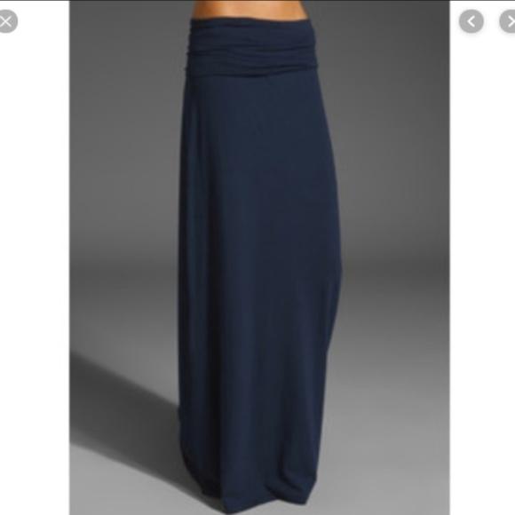 Splendid Dresses & Skirts - Splendid Maxi Skirt Fold over waist